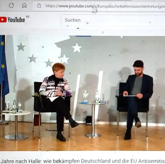 Veranstaltung '2 Jahre nach Halle - wie bekämpfen Deutschland und die EU Antisemitismus?'