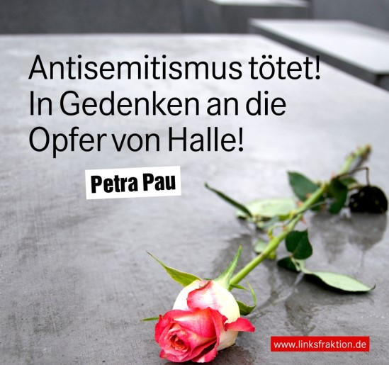 Antisemitismus tötet! in Gedenken an die Opfer von Halle!